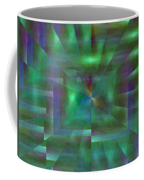Abstract Coffee Mug featuring the digital art The Visitation by Tim Allen