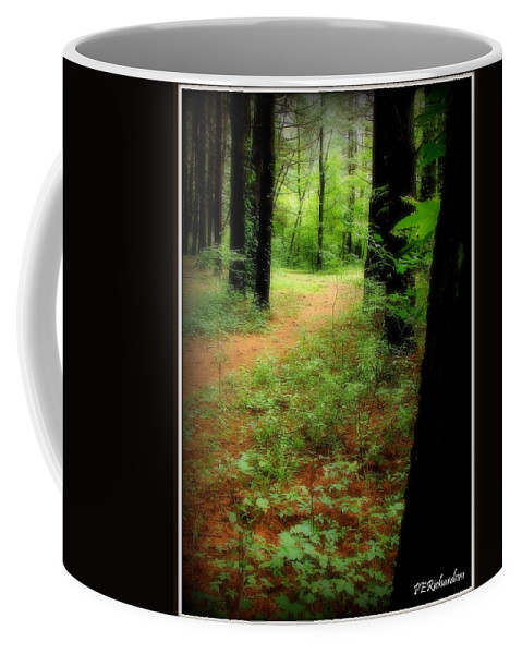 Forest Coffee Mug featuring the photograph The Watcher by Priscilla Richardson