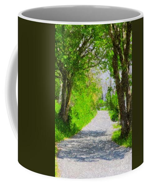 Tranquil Scene Coffee Mug featuring the digital art The Way Forward by Diane Macdonald