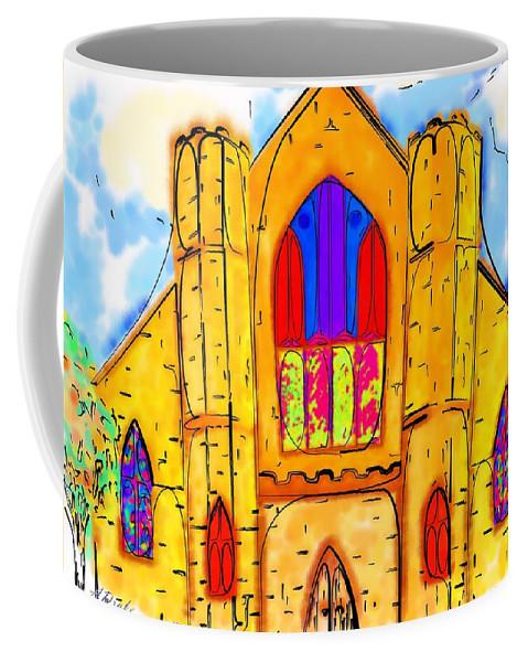 Wedding Coffee Mug featuring the digital art The Wedding Chapel by Alec Drake