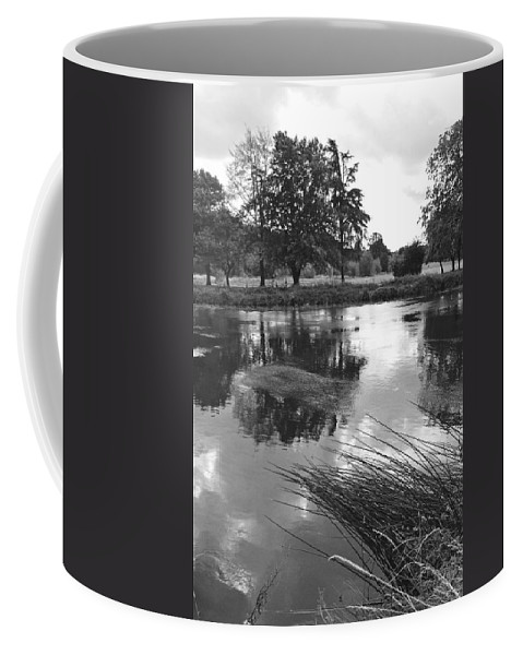 Burton On Trent Coffee Mug featuring the photograph The Wind-swept River Trent At Stapenhill by Rod Johnson