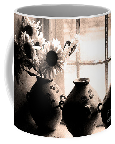Window Coffee Mug featuring the photograph The Window Vases by Mike Nellums