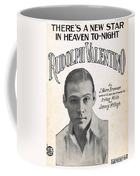 Classic Coffee Mug featuring the photograph There's A New Star In Heaven Tonight Rudolph Valentino by Mel Thompson