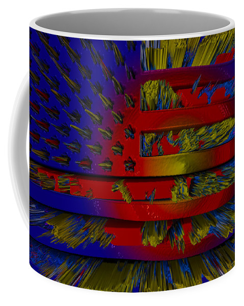 Us Flags Digital Art Coffee Mug featuring the photograph These Colors Don't Run by Robert Margetts