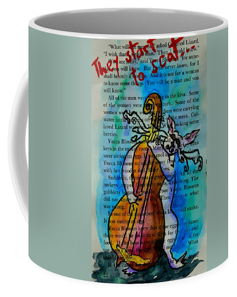 Cat Coffee Mug featuring the painting They Start To Scat I by Beverley Harper Tinsley