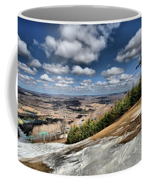Skiing Coffee Mug featuring the photograph Thin Cover by Adam Jewell