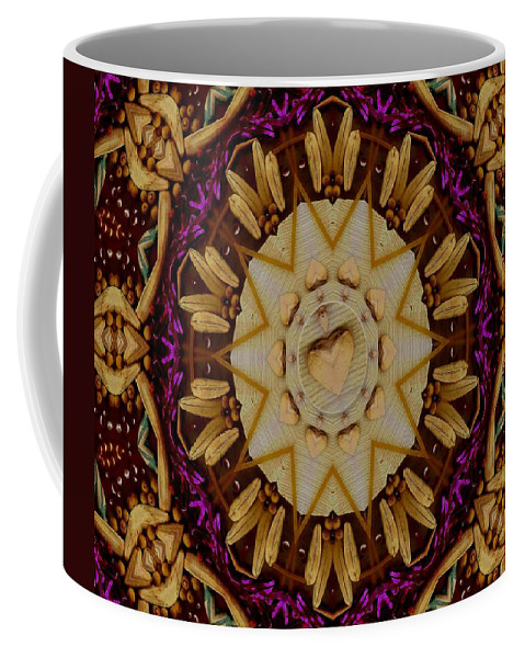 Landscape Coffee Mug featuring the mixed media This Is Pure Love And Festivitas by Pepita Selles