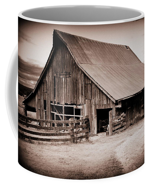 Barn Coffee Mug featuring the photograph This Old Farm by Kathy Sampson