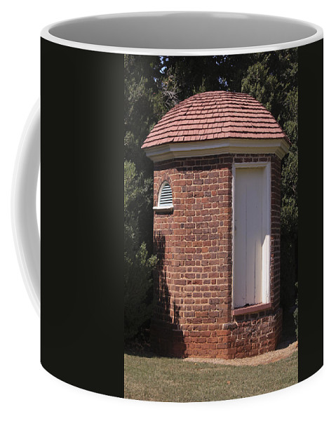 Poplar Forest Coffee Mug featuring the photograph Thomas Jeffersons Privy by Teresa Mucha