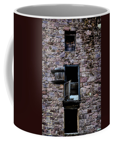 Barn Coffee Mug featuring the photograph Three Windows by Bill Cannon