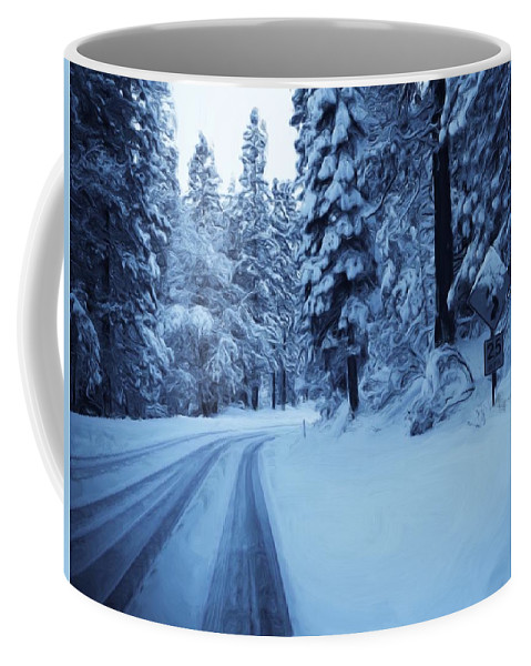 Yosemite Coffee Mug featuring the photograph Through The Snow by Heidi Smith