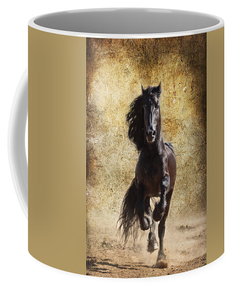 Thundering Stallion Coffee Mug featuring the photograph Thundering Stallion by Wes and Dotty Weber