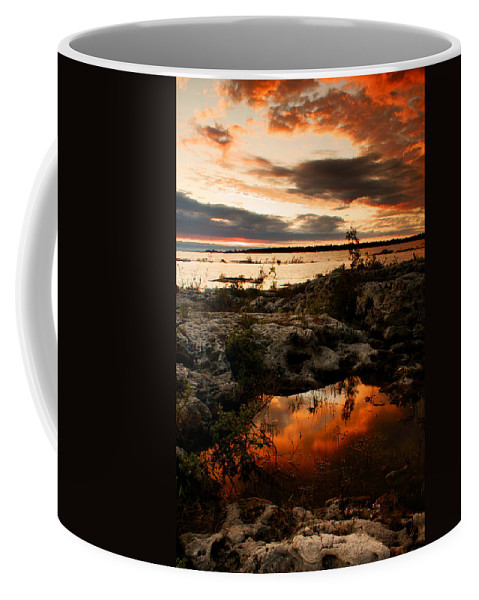 Sunset Coffee Mug featuring the photograph Tide Pool by Cale Best