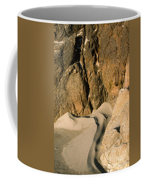 Waterscape Coffee Mug featuring the photograph Tide Sculpture by Sandra Bronstein