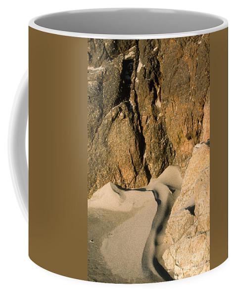 Harris Beach Coffee Mug featuring the photograph Tide Sculpture by Sandra Bronstein