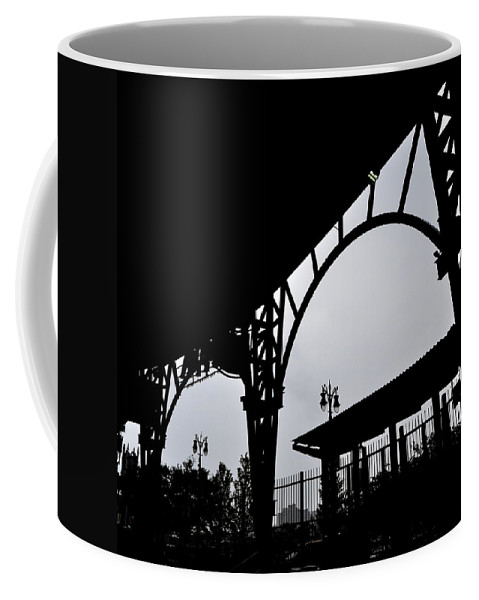 Detroit Coffee Mug featuring the photograph Tiger Stadium Silhouette by Michelle Calkins