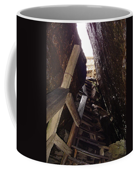 Stairs Coffee Mug featuring the photograph Tight Fit by Michael MacGregor
