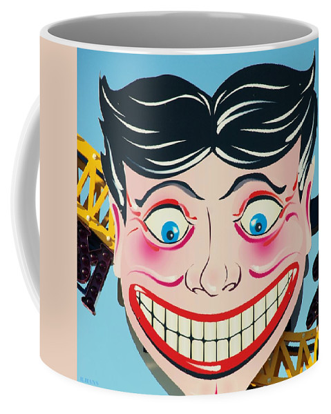 Brooklyn Coffee Mug featuring the photograph TILLIE THE CLOWN of CONEY ISLAND by Rob Hans