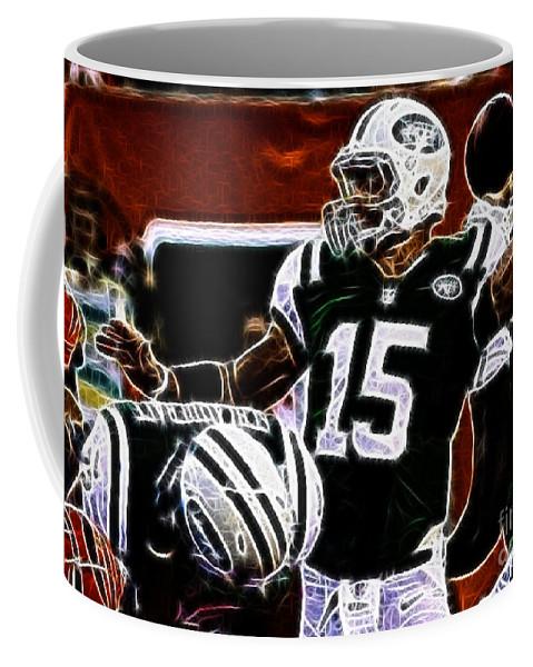 Tim Tebow Ny Jets Quarterback Coffee Mug featuring the photograph Tim Tebow - Ny Jets Quarterback by Paul Ward