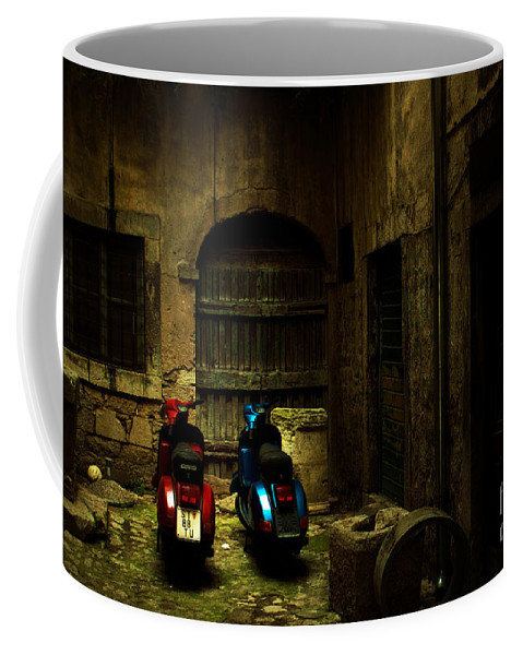 Past Coffee Mug featuring the photograph Time Travellers by Andrew Paranavitana
