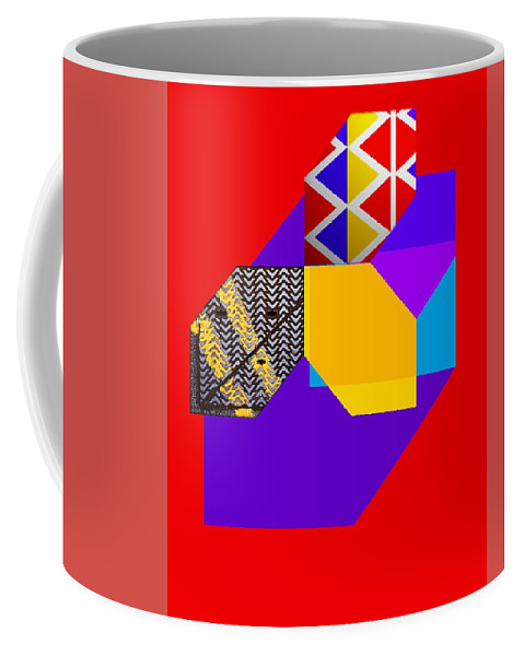 Red Coffee Mug featuring the painting Tipi by Charles Stuart
