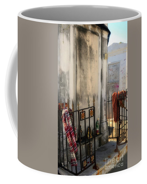 Tomb Coffee Mug featuring the photograph Tomb Of Famille Perrault by Kathleen K Parker