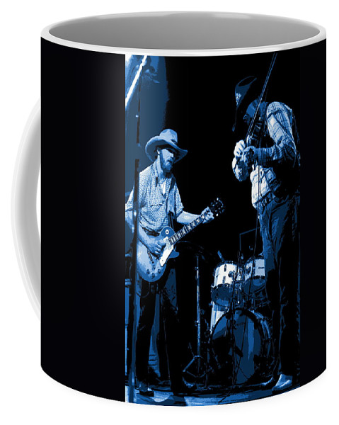 Tommy Crain Coffee Mug featuring the photograph Tommy And Charlie Play Some Blues At Winterland In 1975 by Ben Upham