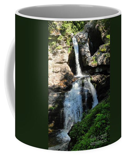 Kent Falls Coffee Mug featuring the photograph Top Of Kent Falls by Meandering Photography