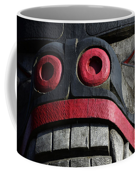 Totem Pole Coffee Mug featuring the photograph Totem Pole 13 by Bob Christopher