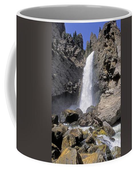 Sandra Bronstein Coffee Mug featuring the photograph Tower Fall Of Yellowstone by Sandra Bronstein