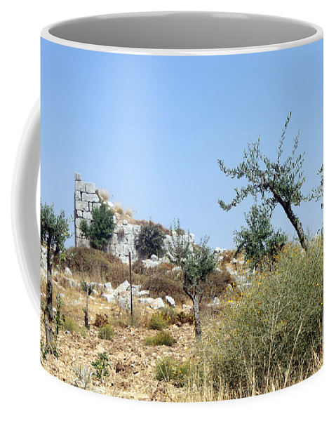 Beitin Coffee Mug featuring the photograph Tower Of Beitin - Biblical Bethel by Munir Alawi