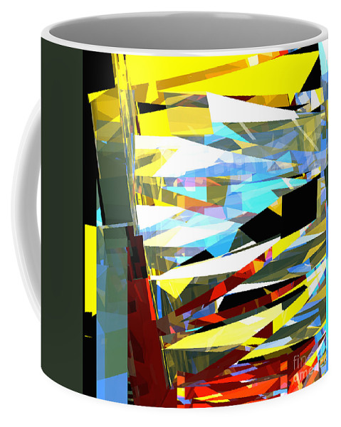 Abstract Coffee Mug featuring the digital art Tower Series 40 by Russell Kightley