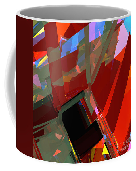 Abstract Coffee Mug featuring the digital art Tower Series 41 Mineshaft by Russell Kightley