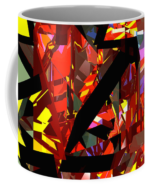 Abstract Coffee Mug featuring the digital art Tower Series 43 Firework by Russell Kightley