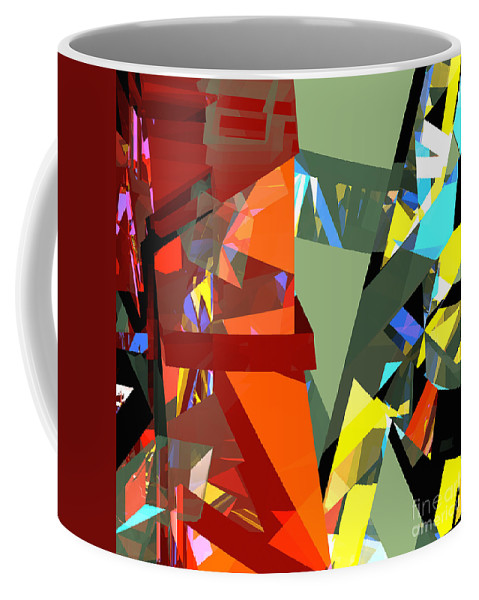 Abstract Coffee Mug featuring the digital art Tower Series 44 Tangerine Picnic by Russell Kightley