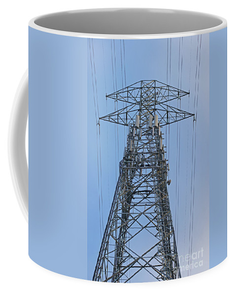 Towers Coffee Mug featuring the photograph Towers And Lines by Randy Harris