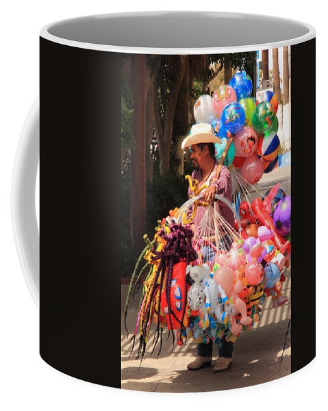 Toy Vender Coffee Mug featuring the photograph Toy Vender In San Jose Del Cabo Mexico by Roupen Baker