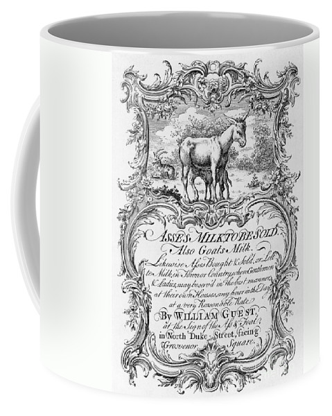 18th Century Coffee Mug featuring the photograph Trade Card: Milk, 1700s by Granger