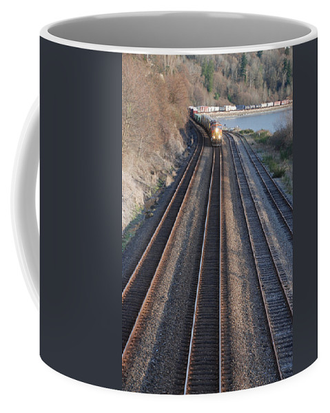 Train Coffee Mug featuring the photograph Train by Michael Merry