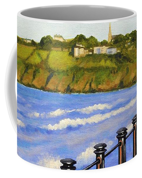 Landscape Coffee Mug featuring the painting Tramore County Waterford by John Nolan
