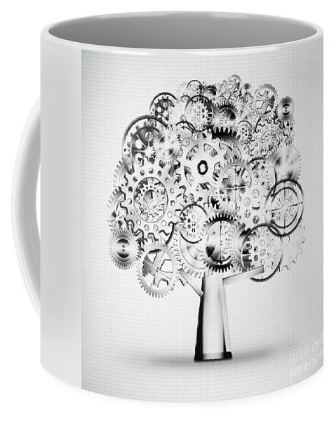 Art Coffee Mug featuring the photograph Tree Of Industrial by Setsiri Silapasuwanchai