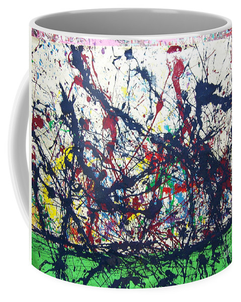 Jazzscape Coffee Mug featuring the painting Treme' On My Mine by Meroe Rei