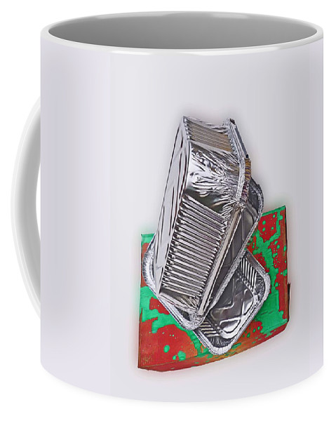 Tray Coffee Mug featuring the painting Tres Bad by Charles Stuart