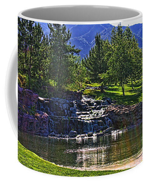 Trilogy Coffee Mug featuring the photograph Trilogy Falls by Tommy Anderson