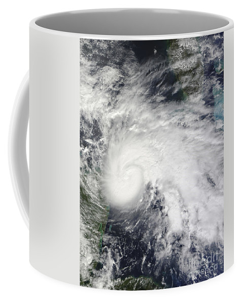 Cyclone Coffee Mug featuring the photograph Tropical Storm Ida In The Caribbean Sea by Stocktrek Images