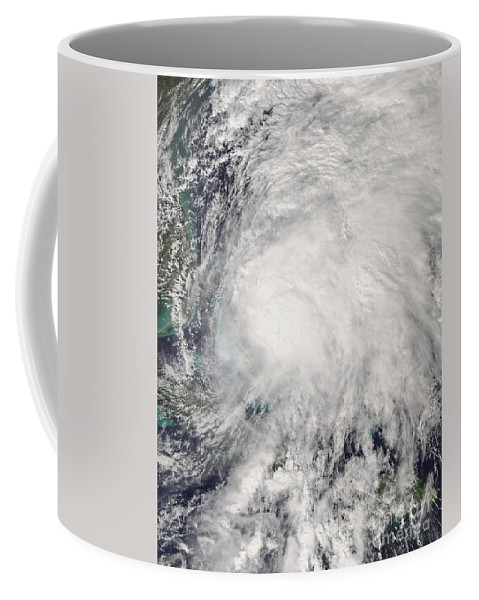 Bahamas Coffee Mug featuring the photograph Tropical Storm Noel Over The Bahamas by Stocktrek Images