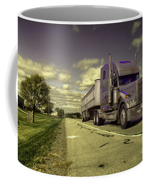 Truck Coffee Mug featuring the photograph Truck On by Rob Hawkins