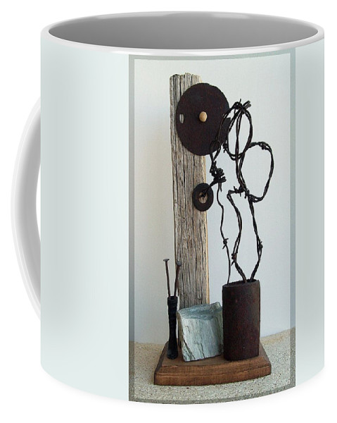 Assemblage Sculptures Coffee Mug featuring the sculpture True Bond by Snake Jagger