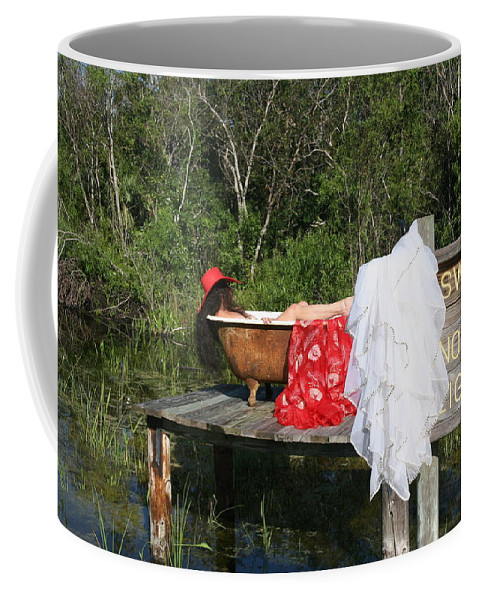 Everglades City Fl.professional Photographer Lucky Cole  Everglades City Photographer Lucky Cole Everglades City Glamour  Everglades City Beauty Everglades City Fl.photographer Lucky Cole  Angels Sexy Exotic Natural Beauty Glamorous Environmental Portraits Female Natural Settings  Exotic Beauty Wildlife  Everglades City Florida  Naples Florida Professional Photographer Lucky Cole Loop Road Coffee Mug featuring the photograph Tubs 012 by Lucky Cole