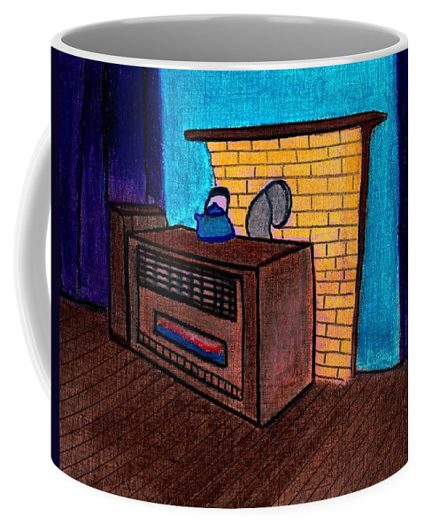 Heat Coffee Mug featuring the pastel Turn Up The Heat by Melvin Moon